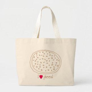 Decore sua própria pizza com coberturas, as bolsas bolsa tote grande