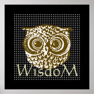 decore sua sabedoria da coruja do ~ das paredes poster