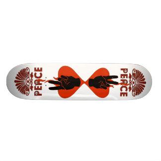 Dedos da paz shape de skate 20,6cm