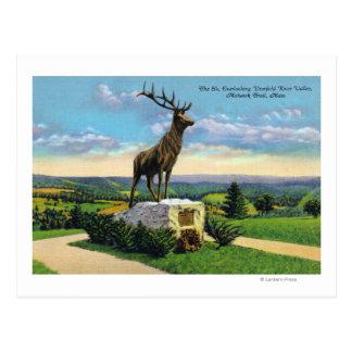Deerfield River Valley na fuga do Mohawk Cartão Postal