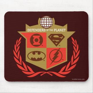 Defensores da liga de justiça do planeta mouse pad