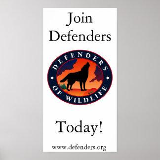 Defensores dos animais selvagens poster