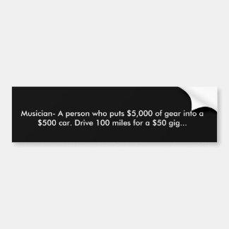 Definição de um músico adesivo para carro