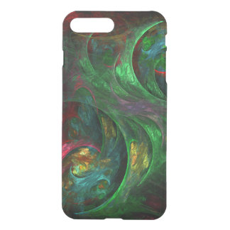 Defletor verde da arte abstracta da génese capa iPhone 7 plus