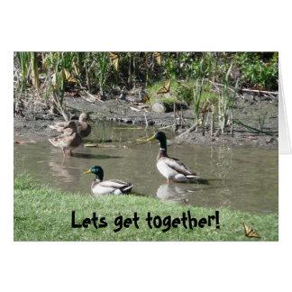 Deixa a reunião! cartão comemorativo