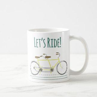 Deixa o passeio caneca de café