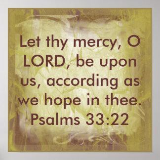 Deixado eles 33 22 do salmo do verso da bíblia do posters