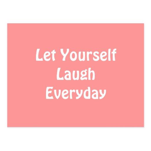 Deixado para rir diário. Brandamente rosa Cartões Postais