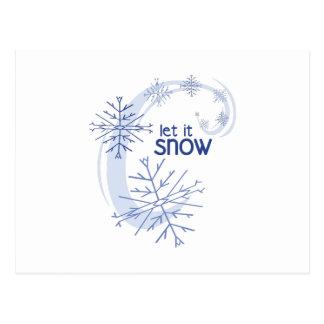 Deixais lhe para nevar cartoes postais