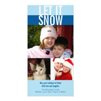 Deixais lhe para nevar cumprimento corajoso do Nat Cartão Com Foto