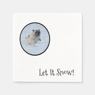 Deixais lhe para nevar! Guardanapo do Pug