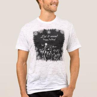 Deixais lhe t-shirt para nevar & dos homens