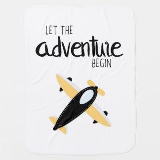 Deixe a aventura começar a cobertura 01 manta de bebe