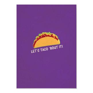 Deixe ataque do Taco 'ele slogan engraçado do Taco