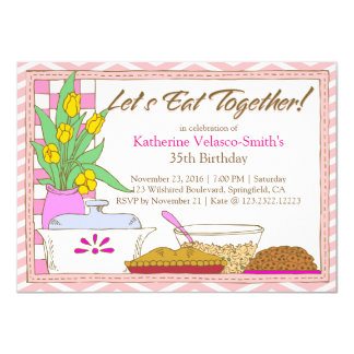 Deixe-nos comer junto jantam ou almoçam banquete convite