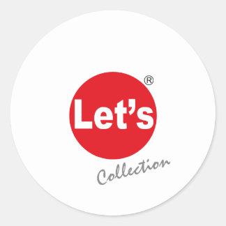 Deixe-nos etiqueta do logotipo da coleção