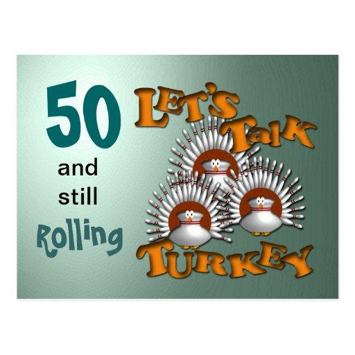 Deixe-nos falar o aniversário de Turquia Cartao Postal
