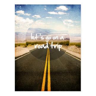Deixe-nos ir em uma viagem por estrada cartão postal