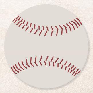 Deixe-nos jogar o basebol porta-copo de papel redondo