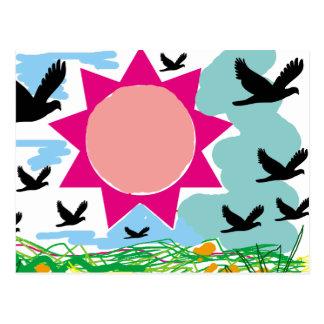 Deixe o céu cartão postal