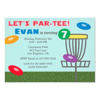 DEIXE o convite de aniversário do golfe do disco