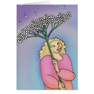 Deixe um sorriso ser seu cartão do guarda-chuva