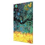 Delírio - arte abstracta impressão de canvas envolvida