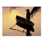 Delta de Ásia, Vietnam, Mekong, Can Tho. Cartão Postal