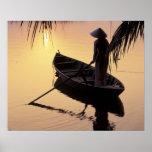 Delta de Ásia, Vietnam, Mekong, Can Tho. Nivelamen Pôster