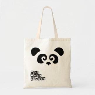 Demasiado bambu! Saco da panda Bolsa Tote