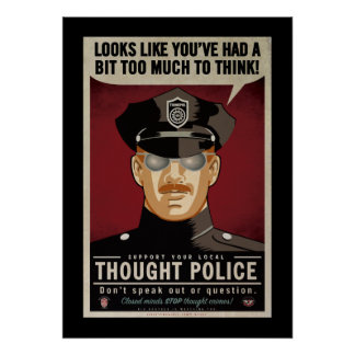 Demasiado para pensar o poster da polícia do