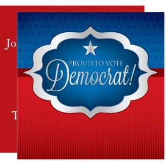 Democrata Convite Quadrado 13.35 X 13.35cm