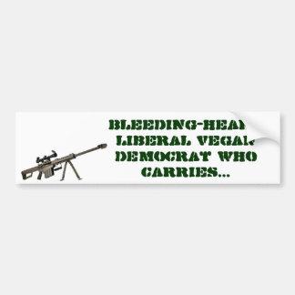 democrata liberal do vegan do Sangramento-coração  Adesivo Para Carro