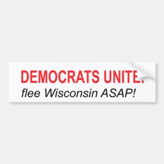 Democratas unem-se: Fuja! Adesivo Para Carro