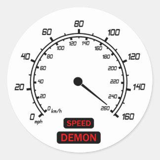 Demónio de velocidade adesivo
