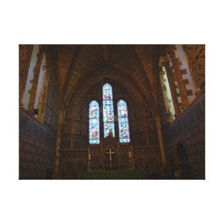 Dentro de uma capela bonita em Inglaterra Impressão De Canvas Esticada