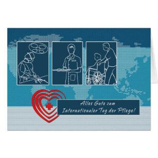 Der Pflege do Tag de Internationaler. Cartão