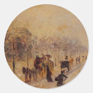 DES Batignolles do bulevar por Camille Pissarro Adesivo