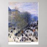 DES Capucines do bulevar por Claude Monet Posteres