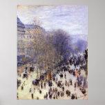 DES Capucines por Claude Monet, belas artes do Poster