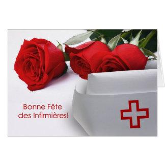 DES Infirmières.Customizable de Bonne Fête. Em Cartão