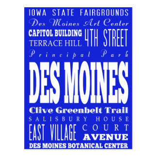 DES original Miones, ideia do presente de Iowa Cartão Postal