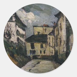 DES Saules da rua. Montmartre por Paul Cezanne Adesivo