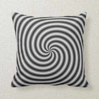 Descansa   o redemoinho em preto e branco travesseiro