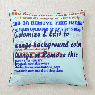 """Descanse o algodão 20"""" do lance os lados w/text de travesseiro de decoração"""