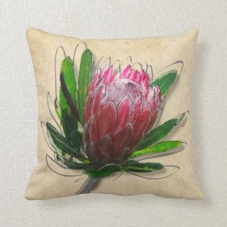 Descanso da flor do rei Protea Almofada