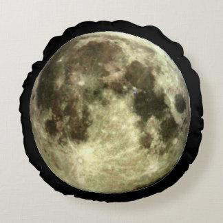 Descanso redondo da Lua cheia Almofada Redonda