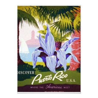 Descubra Puerto Rico Convite 12.7 X 17.78cm