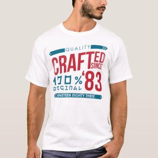 Desde 1983 aniversário Crafted, t-shirt do ano