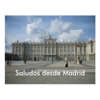 Desde Madrid de Saludos Cartão Postal
